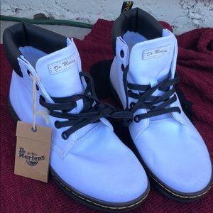 Dr Marten's White Boots